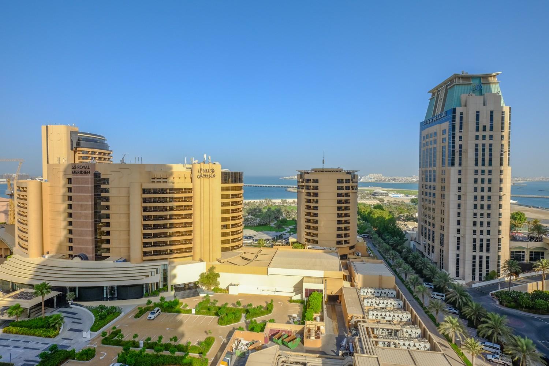 Modern Studio Holiday Apartment with Dubai Eye and sea ...