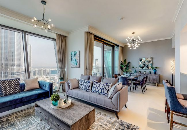 Immaculate 3 bedroom apartment with burj khalifa view - Dubai 3 bedroom apartments for rent ...